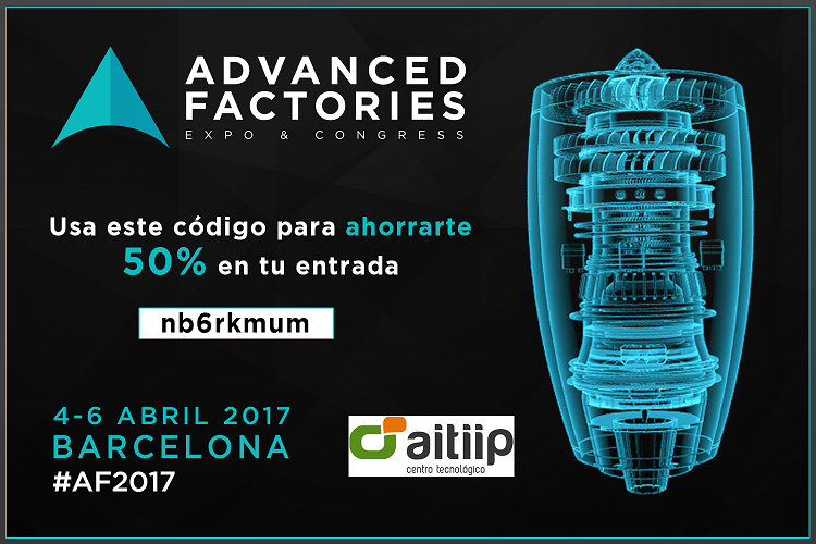 Discount code Advanced Factories Barcelona